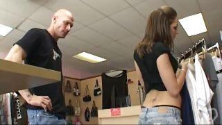Sexy Teen Kiera Helps A Customer