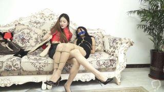 Two chinese girls bondage