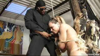 Beautiful Blonde Shemale Tied Up And Dominated