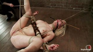 Blonde Bitch With Shaved Vagina Needs Some Punishment