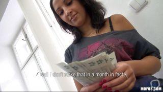 Brunette Slut Undresses For Money