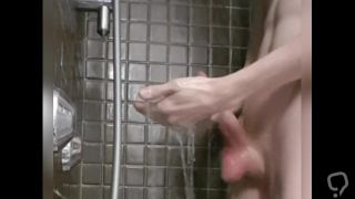 Jerking off in the shower