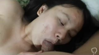 FSU Chinese student Heather Liu in black stockings bj then fucked