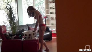 Hot Redhead Gets Filmed While Changing Her Panties