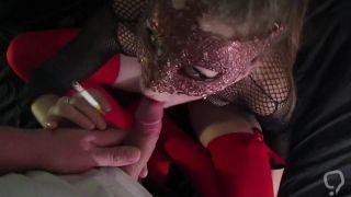 SMOKE FETISH , Mylie Blonde first FACIAL CUMSHOT ,suck dick , ride a cock
