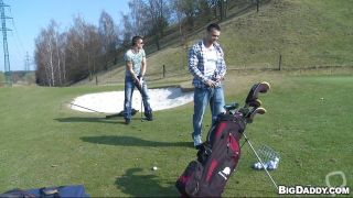 Sexy Dudes Playing Golf