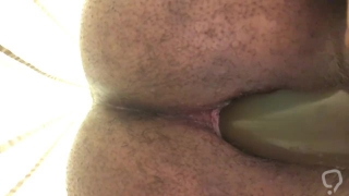 Wrecking my ass with a dildo