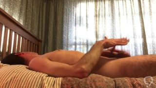 Hung straight alpha male with cockring has intense edging session!