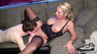 Small Young Men Lost Virgin by German Big Tit MILF
