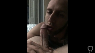 Swallowing and worshiping my mans cock