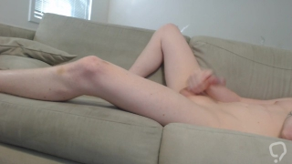 Skinny Pale Hard Cock Masturbation