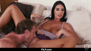 August Ames Gets Her Pussy Eaten By Her Stepbrother