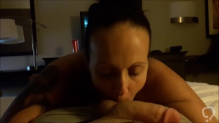 Motel Blowjob Mouth Cum and Swallow