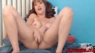 Hot redheaded MILF Nikki loves double penetrated at ALIVEGIRL com