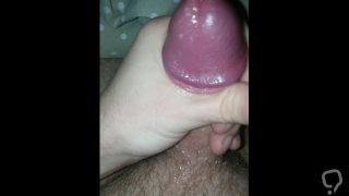 Spit on my dick and jerking off