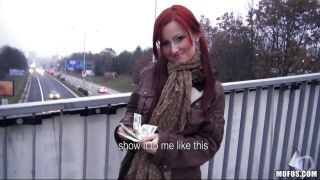 Cute Redhead Gives Head For Money