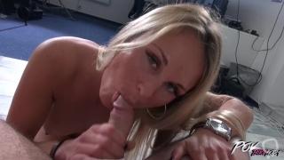 Busty blonde pornstar milf relax when fucked by stranger till get cum