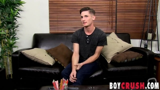Adorable twink Elijah West loves to play with his boner