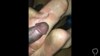 Dirty asian feet cumshot on soles