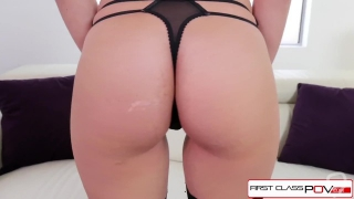 First Class POV - Alyssa Cole is a dirty little big dick sucker, big booty