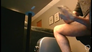 Caught my big brother wanking his massive horse cock