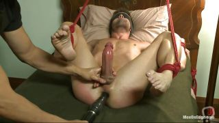 Tied Gay With Hard Dick And Stuffed Anus Is Pleased