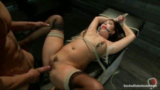 Sexy Asian Chick Tied On A Table And Dominated