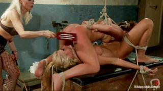 Lesbian Threesome With A Bossy Blonde Milf