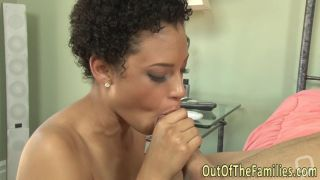 Real ebony stepteen spunk