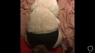 Bitch Bunny sleeping panties cumshot