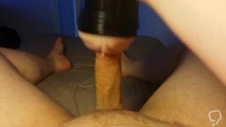 Jerking my cock and fucking my fleshlight