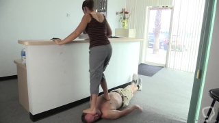 Claire trample foot domination