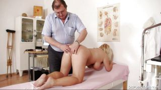 Blonde Mature Slut Examined In Her Large Pussy