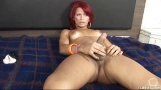 Redhead Shemale Is Trying To Please Herself