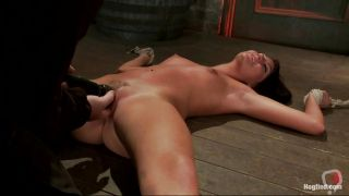 Brunette Teen Gets Whipped And Fingered