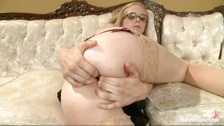 Little Dorky Blonde Shows What A Whore She Is