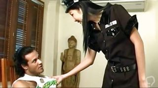Shemale Police Officer Teaching The Bad Boy A Lesson