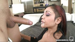 Sexy Indian Babe Filling Her Mouth With Cum.
