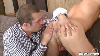 Caleb Gets A Blowjob And A Tongue In His Anus
