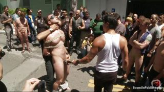 Tied And Humiliated In The Middle Of The Street