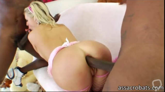 Andi Anderson tag teamed by some black cocks