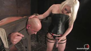 Blonde Chick Fucking A Bald Guy In The Ass