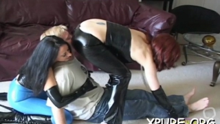 Appealing maid gets drilled through