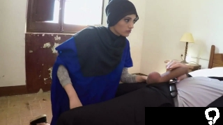 Arab cronys brother and  compeers sister 21 yr old refugee in my hotel room for sex