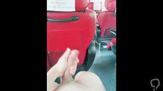 Masturbation on a bus, behind a stranger