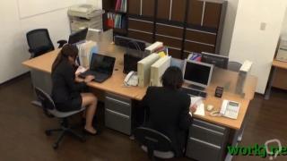 asian office girl spreads legs clip