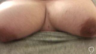 Bouncing tits while masterbating
