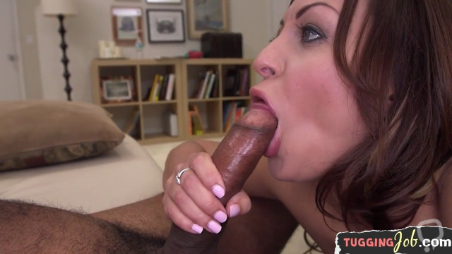 Babe relentlessly tugging on amateur cock