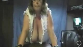 BBW Mature MILF Rides Sybian and Cums Hard On Webcam