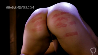 Beautiful big butt beat with a cane